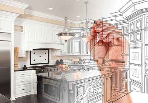 Küchen Plan Zeichnung