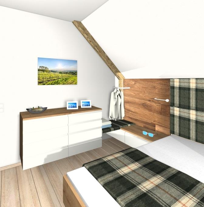 3D Planung eines Schlafzimmers