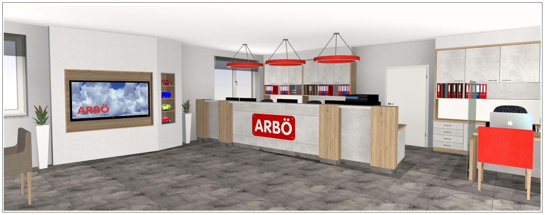3D Planung eines Arbö Shops