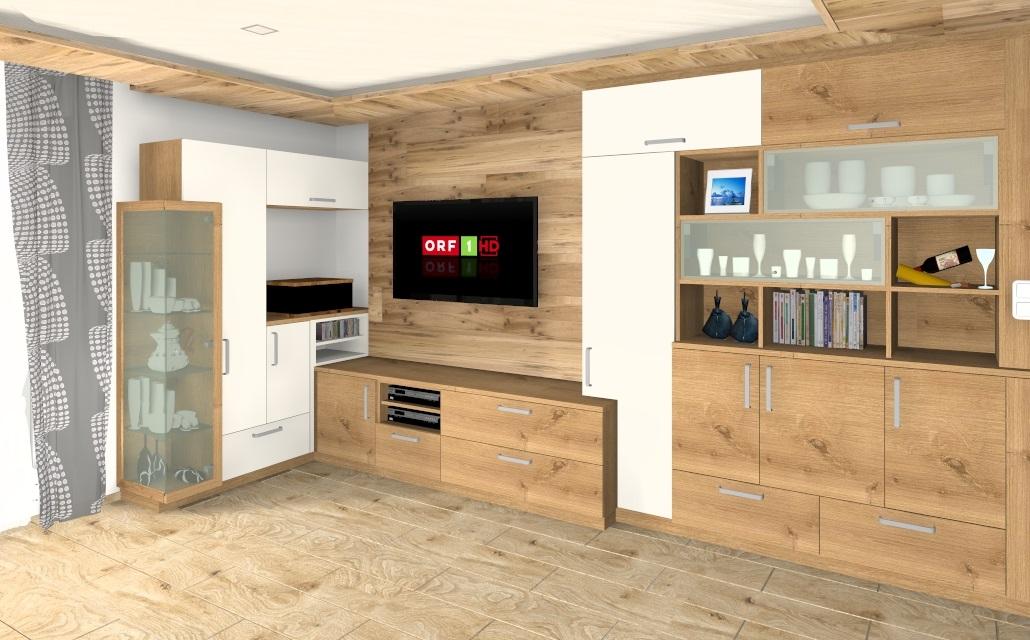 3D Planung einer Wohnwand