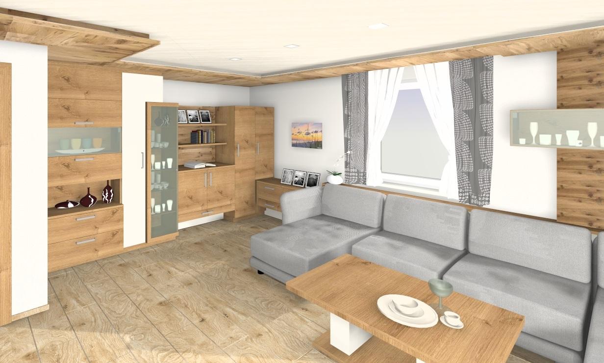 Wohnszimmer 3D Planung