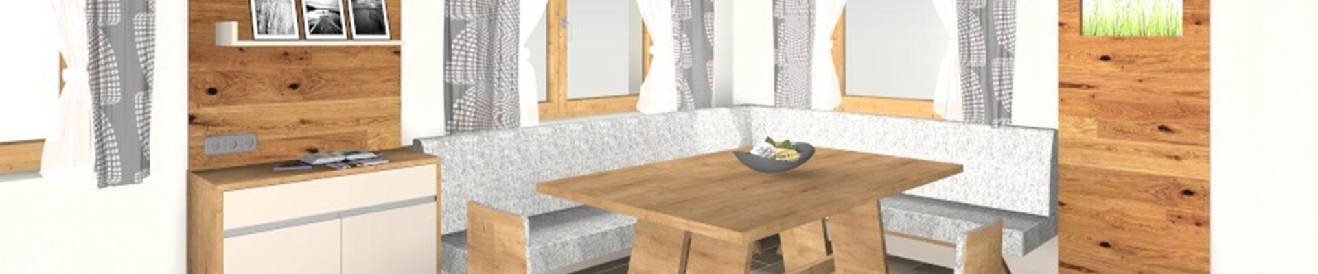3d Rendering einer Wohnküche