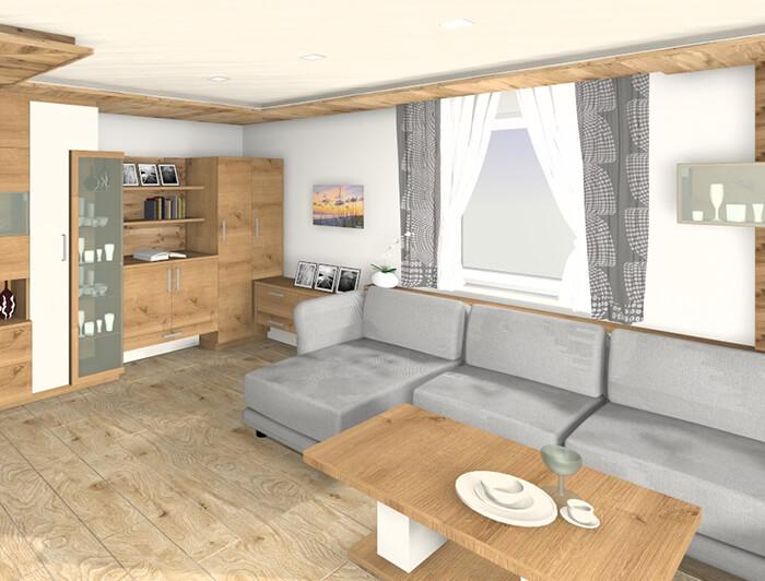 3d Rendering eines Wohnbereiches